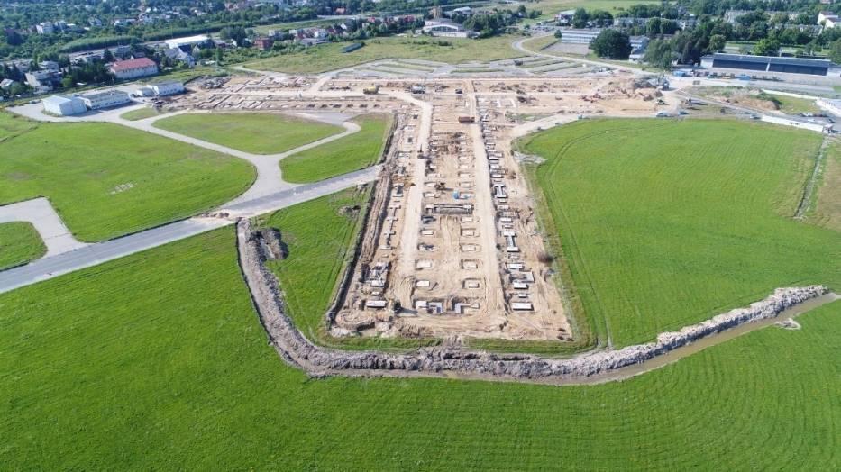 Widać postęp przy pracach przygotowawczych budowy terminala