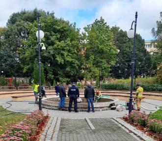 Zwłoki mężczyzny ujawnione w fontannie w Miastku
