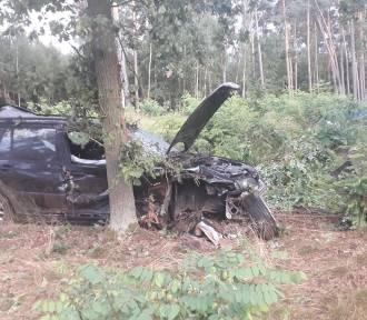 Wypadek w Kuźnicy Zbąskiej. Auto wypadło z drogi