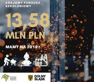 Powiaty z Dolnego Śląska dostaną ponad 13,5 mln zł z Krajowego Funduszu Szkoleniowego