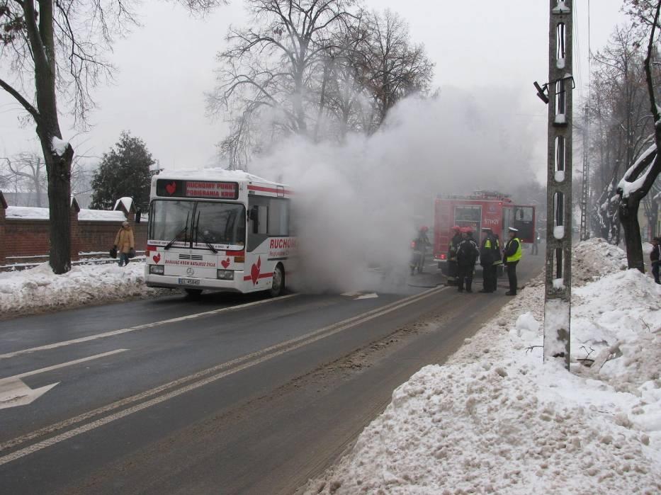 Pożar autobusu w Zduńskiej Woli, miejsce zdarzenia