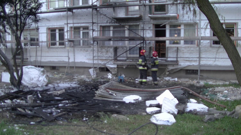 Pożar na ulicy Serbinowskiej w Kaliszu