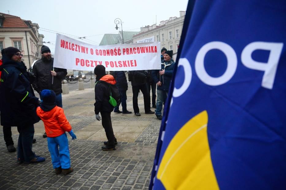Protesty pracowników Poczty Polskiej odbyły się już m