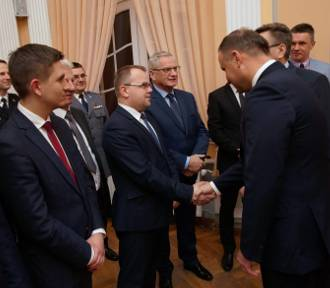 Człuchów. Spotkanie prezydenta Andrzeja Dudy z samorządowcami powiatów człuchowskiego i chojnickiego