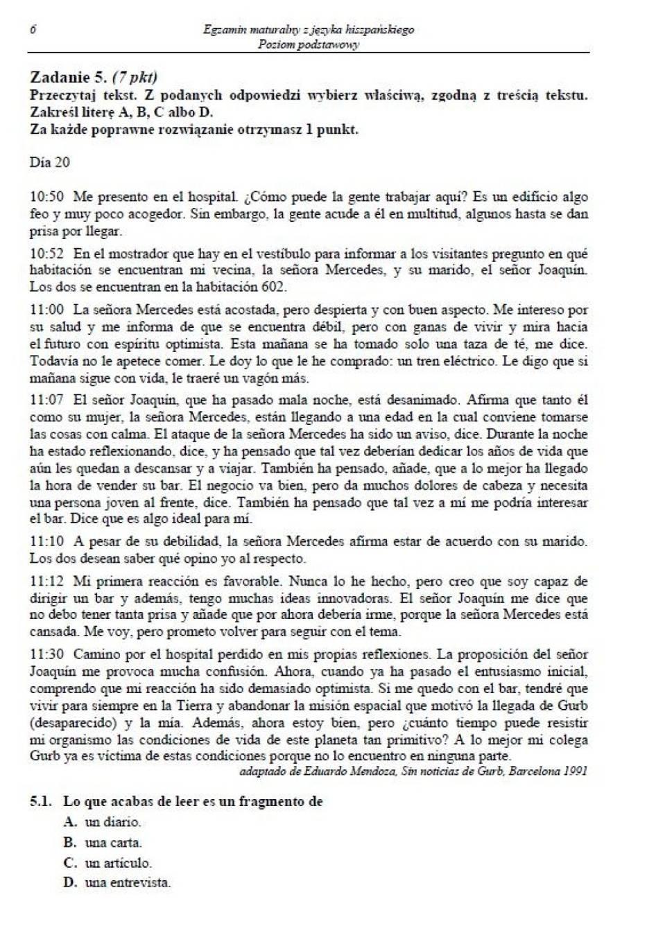 Matura 2014: język hiszpański