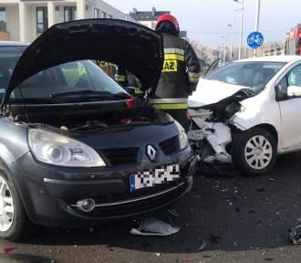BMW, toyota i renault zderzyły się w Opolu [zdjęcia]