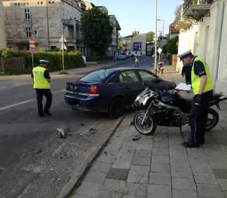 Wypadek w Kaliszu. Motocyklistka potrącona przez pijanego kierowcę na ulicy Stawiszyńskiej.