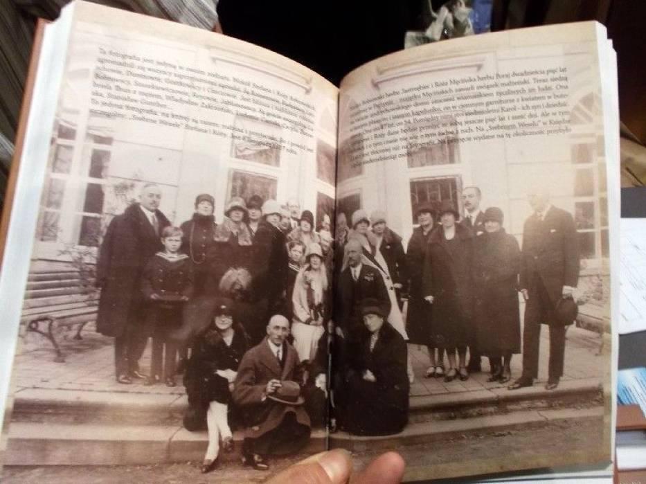 Fragment książki z Andrychowa o rodzinie hr Bobrowskich zasłużonych dla miasta