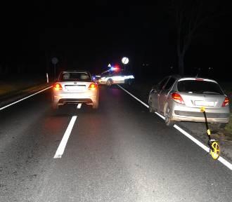 Wypadek na DW 308. 35-latek w ciężkim stanie trafił do szpitala!
