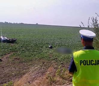Tragedia w Brzeźnie. Motocyklista uderzył w drzewo