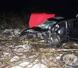 Wypadek w pobliżu Stępnia. Zginął kierowca volkswagena [ZDJĘCIA]