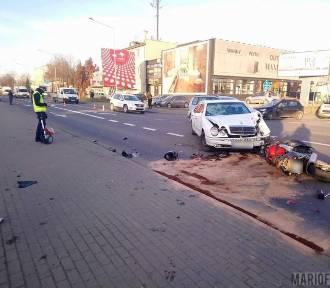 Groźny wypadek na Budowlanych w Opolu. Motocyklista w bardzo ciężkim stanie