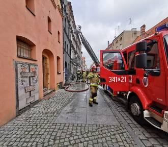 Pożar w centrum starówki. Jedna osoba nie żyje ! [zdjęcia]
