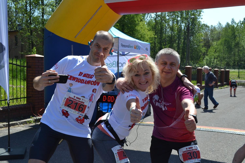 Uczestnicy biegów dobrze się bawili