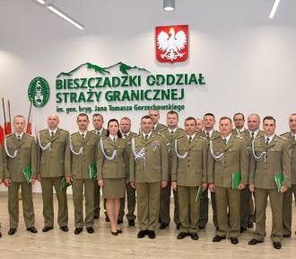 Awanse i wyróżnienia w Bieszczadzkim Oddziale Straży Granicznej
