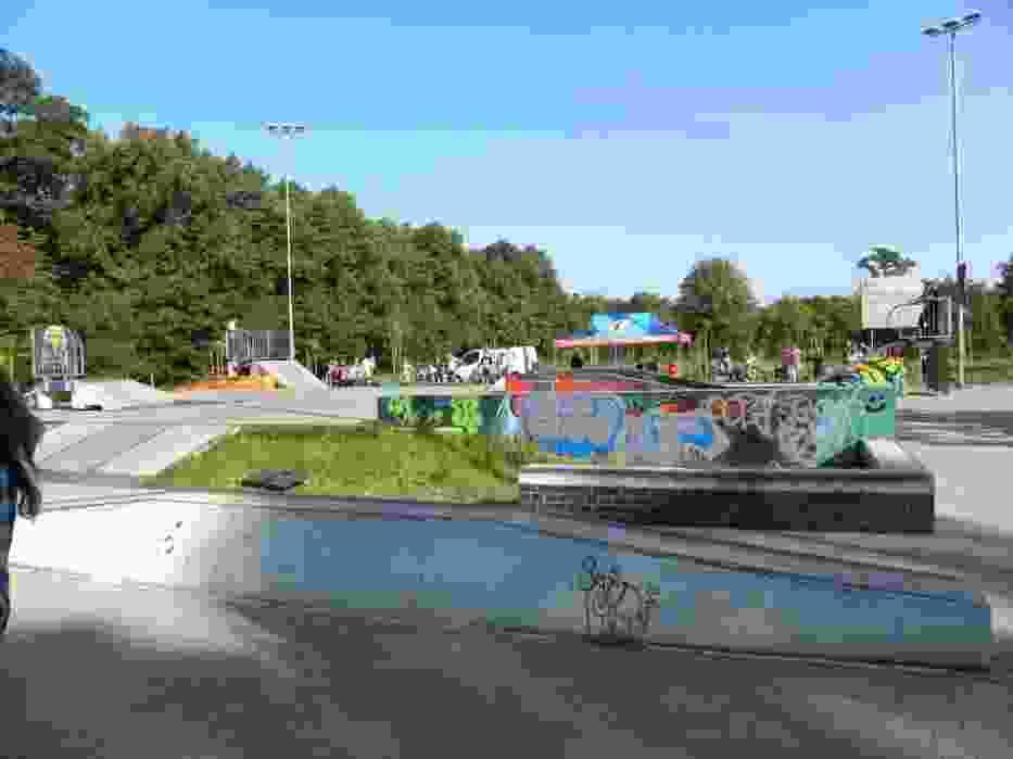 Bytomski skate park usytuowany przy kąpielisku otwartym na ulicy Wrocławskiej