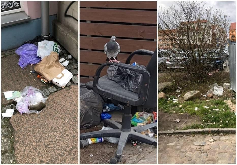 Śmieci na Podzamczu w Szczecinie