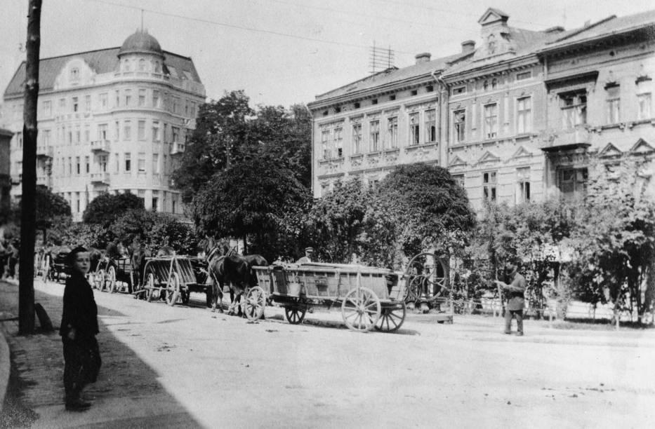 Plac na Bramie w Przemyślu w 1916 r