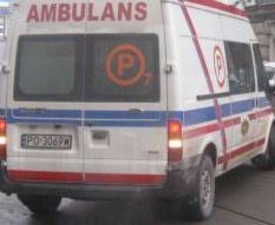 Ranny rowerzysta został przewieziony do szpitala