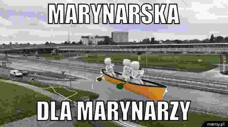 """Droga znowu zalana - internauci bezlitośni. """"Marynarska dla marynarzy"""". Oto najlepsze memy!"""