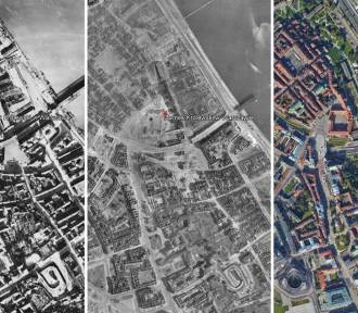 Powojenny krajobraz Polski. Niesamowite zdjęcia lotnicze sprzed 75 lat