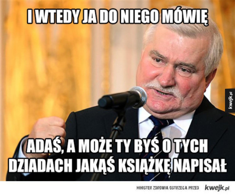 Lech Wałęsa Wszechmogący. Internet komentuje, jak były prezydent zmieniał świat MEMY