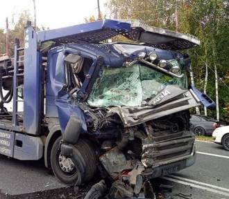 Wypadek tirów w Bieruniu. Kierowcy szukają świadków zdarzenia