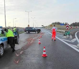 Wypadek na trasie S3. Dwie osoby w szpitalu [ZDJĘCIA]