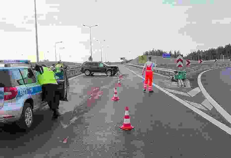 Wypadek na drodze S3