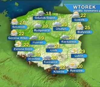 Pogoda na wtorek, 4 sierpnia