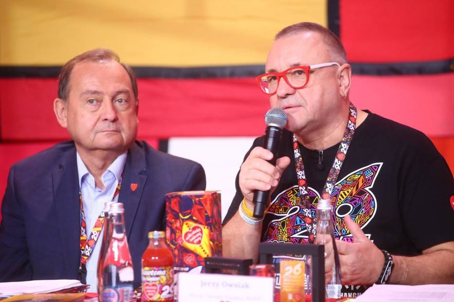 Profesor Bohdan i Jurek Owsiak
