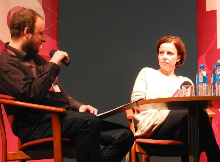 Tofifest 2014 - spotkanie z Agatą Kuleszą i Agatą Trzebuchowską; prowadzenie - Jarosław Jaworski