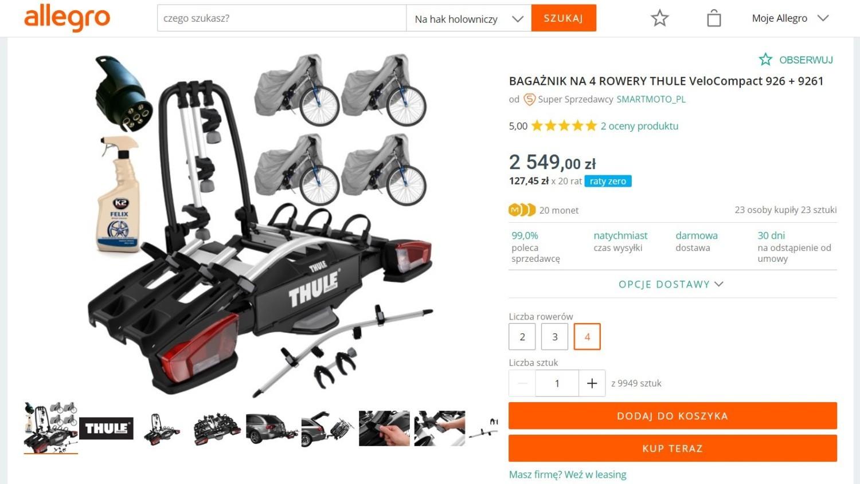 Bagażnik rowerowy dla całej rodziny