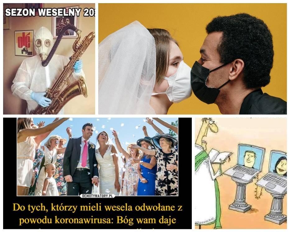 Z powodu pandemii koronawirusa pary młode na całym świecie musiały odwołać, przenieść swój ślub, lub zorganizować go w nietypowych warunkach