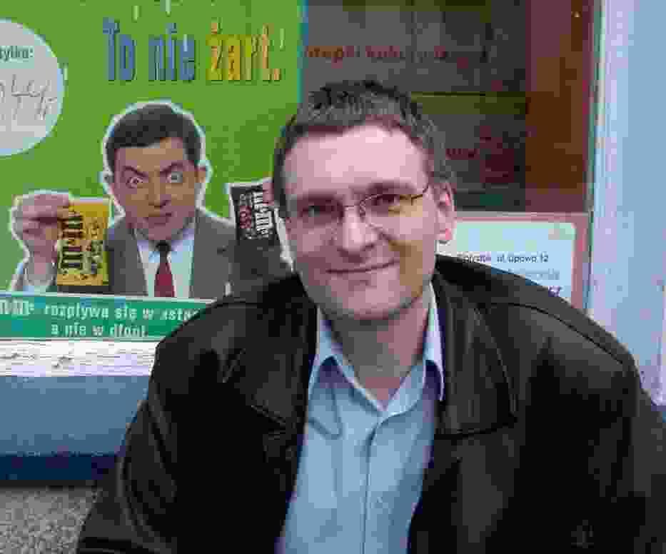 Szczepan Sadurski z kolegą po fachu