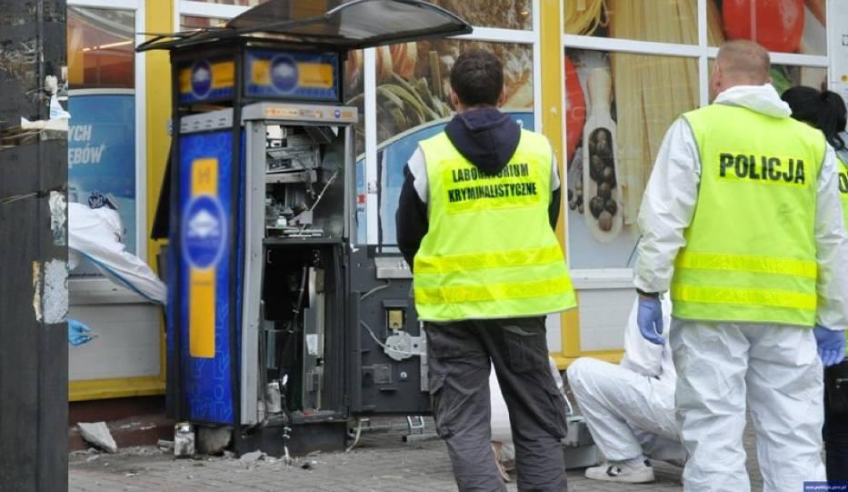 bankomat wysadzony w Olsztynie