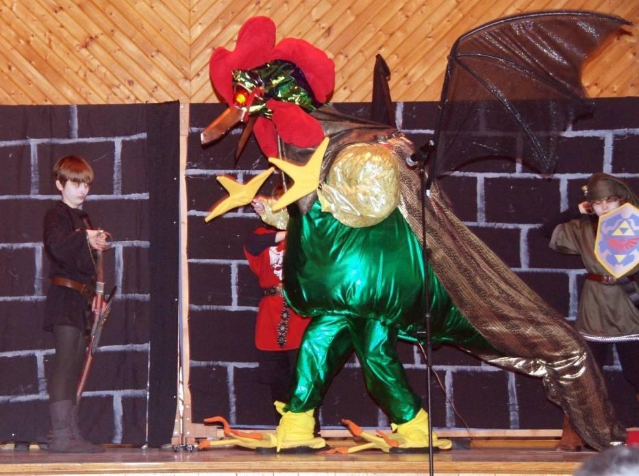 Bazyliszek na scenie w Vancouver BC, Canada
