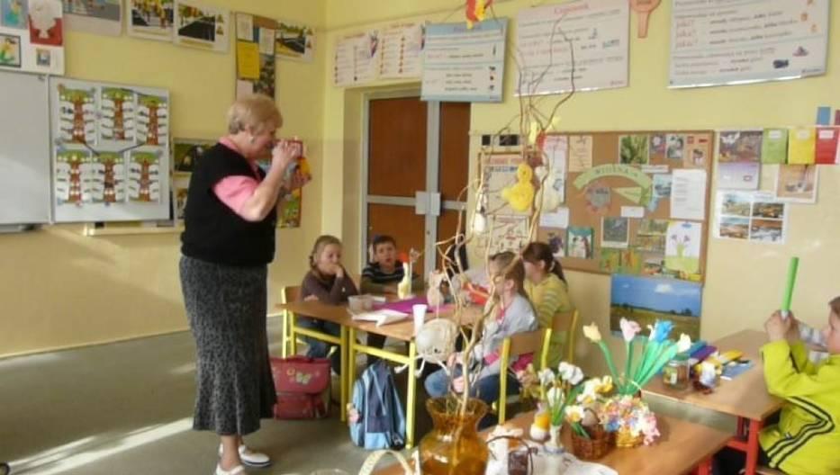 Dorota Michalczak podczas zajęć