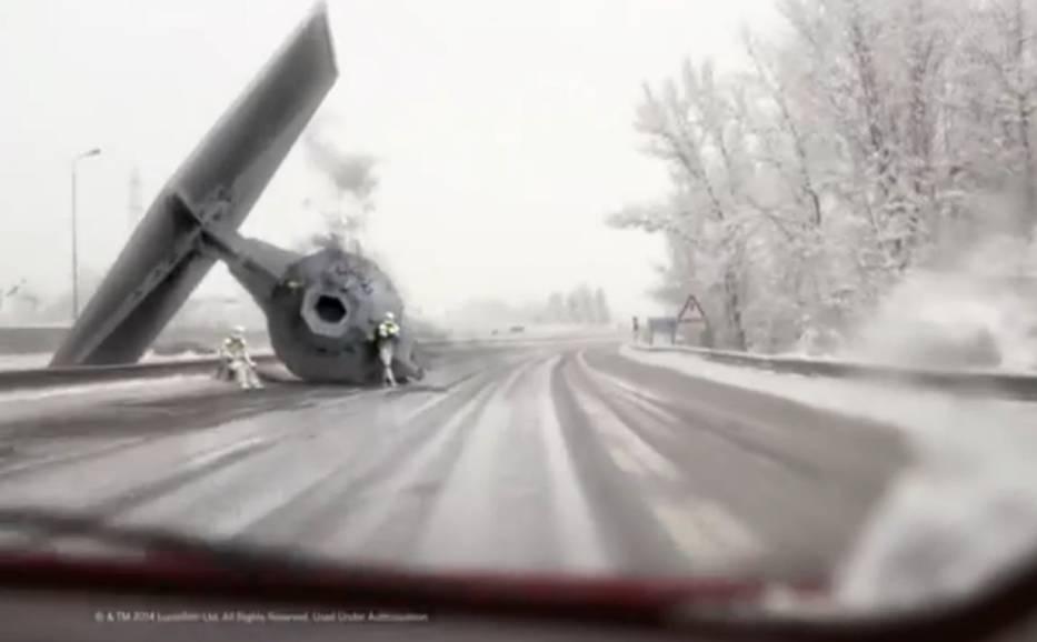 Wypadek TIE Fightera na autostradzie