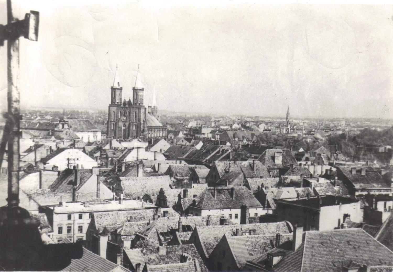 Panorama Legnicy z roku 1947