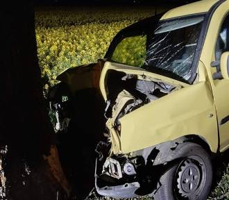 Gmina Niechanowo: nocne uderzenie w drzewo. Jedna osoba trafiła do szpitala