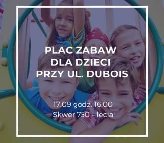W czwartek o godz. 16 konsultacje w sprawie modernizacji placu zabaw przy ul. Dubois