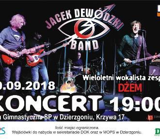 Jacek Dewódzki, były wokalista zespołu Dżem, wystąpi w niedzielę w Dzierzgoniu