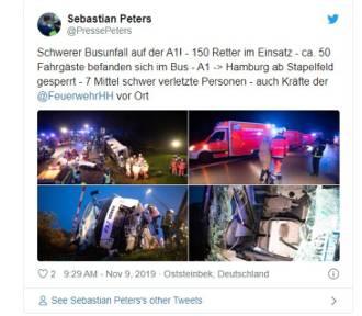 Wypadek polskiego autobusu w Niemczech. Są ranni