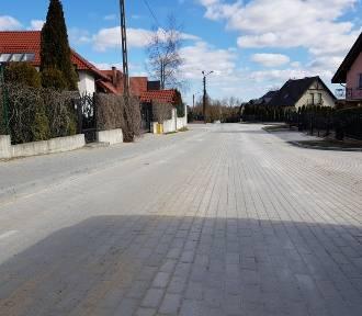 Ulica Kasztanowa w Żukowie już po odbiorze