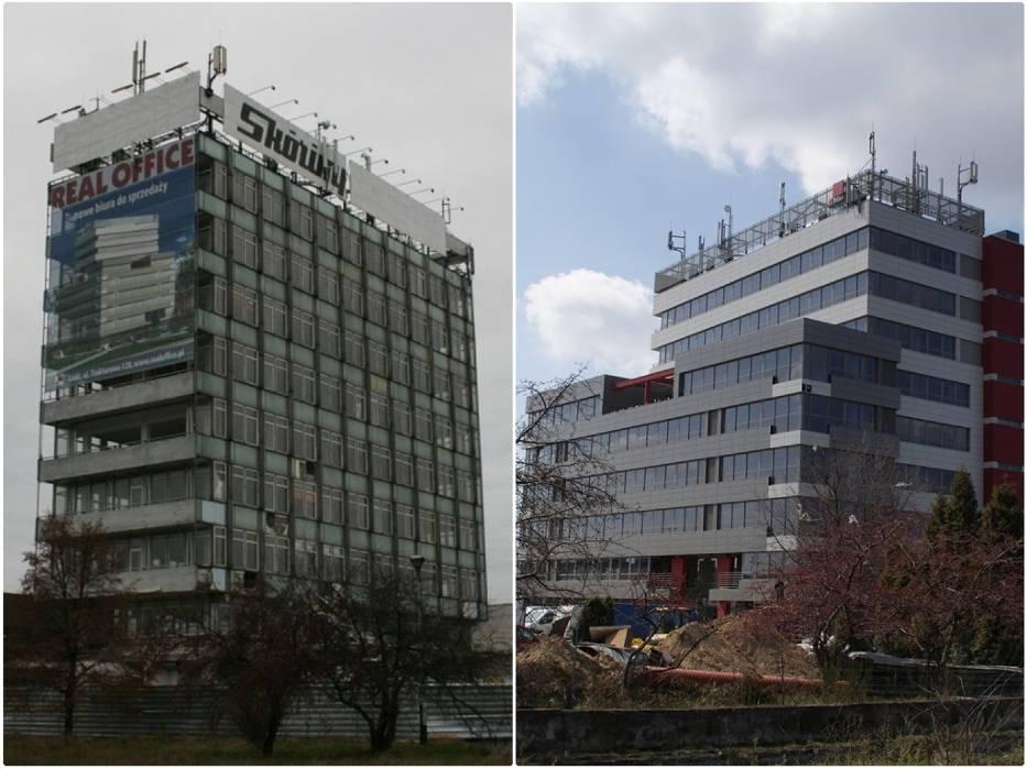 Biurowiec Real Office na Traktorowej - przed i po przebudowie