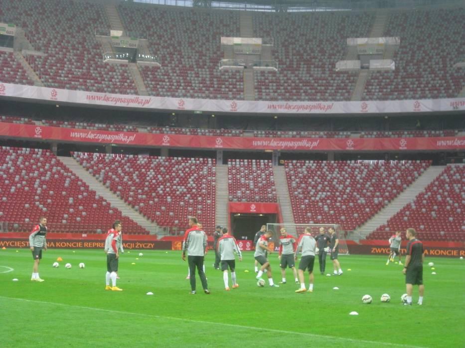 Trening reprezentacji Polski przed meczem ze Szkocją