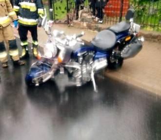 Groźnie w Malechowie. Motocyklista w szpitalu ZDJĘCIA