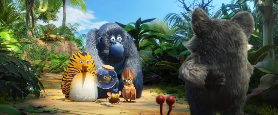 "Kadr z filmu ""Kumple z dżungli"""