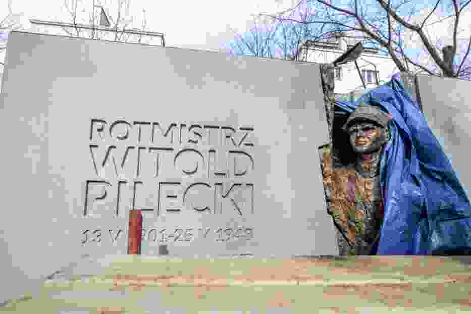 Pomnik rotmistrza Pileckiego powstaje na Żoliborzu [ZDJĘCIA]